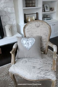 DIY Vintage Valentine Pillow | So Much Better With Age