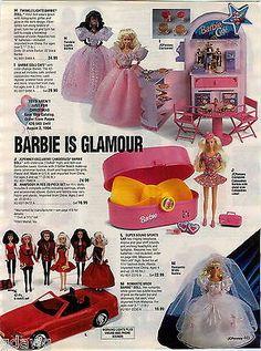 1993 ADVERTISEMENT 6 Pg Barbie Vanity Cafe Gazebo Mermaid Skipper Porsche Shower