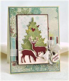 Card-io Clear Stamp Set WINTER BREEZE Tree Child Reindeer Moonlight Set of 8