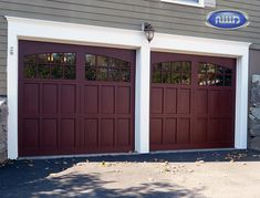 Infinity Classic Model I208A WG Mahogany PC Finish Garage Doors