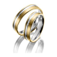 silver gold his hers matchingwedding ring set,his and her wedding... ($299) ❤ liked on Polyvore featuring jewelry, rings, two tone wedding rings, rose gold wedding rings, wedding band rings, rose gold band ring and gold ring