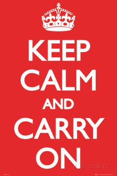 Mantenha a Calma e Siga em Frente Pôsters na AllPosters.com.br