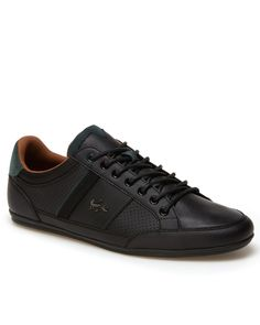 Lacoste men Europa casual shoes sneakers size 10 - Black   Red  90 ... 7cf66275ec2