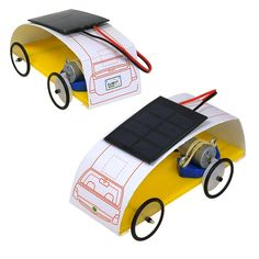 Great projects for kids to learn about renewable energy! Solar Car