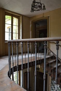 A vast family home and its 9 ha of parklands between the Lorraine and Champagne-Ardenne regions and Belgium. Iron railing
