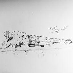 Skiss från vår ö-luff i Grekland // Sketch from our island hopping in Greece