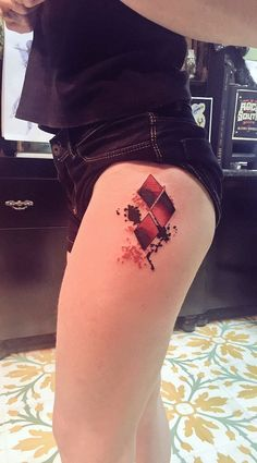 3 Red Rhombus - http://www.tattooideas1.org/placement/hip/3-red-rhombus/