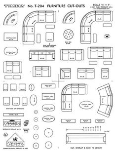 FURNITURE ARRANGING KIT 1/4 Scale Interior Design