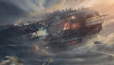 http://wardenlight.com/portfolio/various_works/  The crash of the old Titan by Bastien Grivet