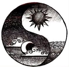 Yin-yang=night and day