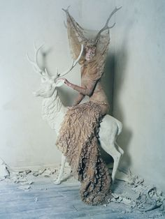 Dark Angel : Tim Walker brings the savage beauty of Alexander McQueen to the pages of Vogue UK.