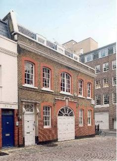 Duchess Mews, London. Home of John Steed in 60s TV show The Avengers