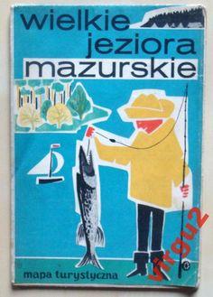 WIELKIE JEZIORA MAZURSKIE Mapa turystyczna 1969 (4480671725) - Allegro.pl - Więcej niż aukcje.