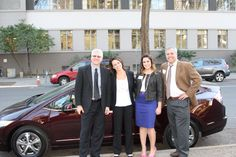 Just me and some colleagues from Honda with a Honda FCX Clarity, a hydrogen-powered vehicle that is not only beautiful and roomy, but performs (if not outperforms) as well as gasoline-powered cars.