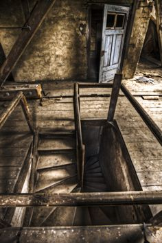 is it just me or does this attic from an abandoned mansion look like something from the Weasley house?