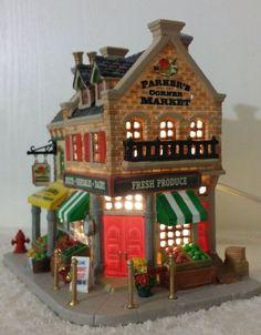 lemax parkers corner market caddington lighted christmas village building