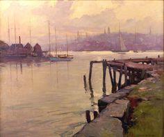 """Evening Light Gloucester"", Emile Gruppe,  Oil on Canvas, 30"" x 36"", Pocock Gallery."