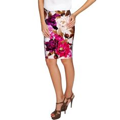 The Carol classic pencil skirt with fabulous floral print has all-occasion possibilities and embodies modern opulence. Made from the most opaque eco-friendly fabric, with excellent shape and stretch recovery for ease of movement. Fits superbly on different body types. Our stylish printed skirt is a staple for any girl's/women's wardrobe. Will look perfect for every day, party or office wear.  THE EXCLUSIVE PLACEMENT OF THE PRINT HIGHLIGHTS THE ORIGINALITY OF THE DESIGN