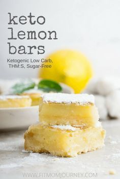 A low-carb, sugar-free Keto Lemon Bar Recipe. I finally was able to come up with a ketogenic Lemon Bar Recipe that is so close to the real thing that I don't even miss the ones I used to make at home! #keto #ketogenic #ketosis #ketorecipes #ketogenicrecipes #ketodiet #lowcarb #highfat #lowcarbhighfat #lchf #eatfatlosefat