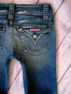 e9271e6c032 Hudson Signature Boot Triangle FLAP POCKETS Distressed Wash Jeans Size 29 x  32 #fashion #clothing #shoes #accessories #womensclothing #jeans (ebay link)