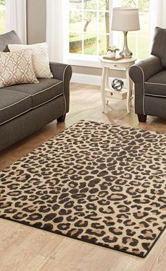 Better Homes And Gardens Cheetah Print Area Rug