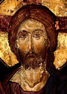 Христос Пантократор. Фреска церкви Святых Константина и Елены в Охриде, Македония. 1477 год.