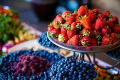 Colorful fruit buffet