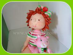 Vitoriarts Artesanatos: Moranguinho Baby- Topo p/ Bolo