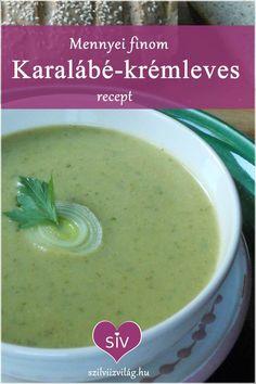 karalábé krémleves Cantaloupe, Fruit, Foods, Food Food, Food Items