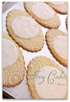 lovely lace cookies