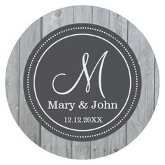 Rustic Gray Wood Wedding Monogrammed Round Paper Coaster - bride to be gifts bridal wedding ideas cyo diy Monogram Coasters, Wood Coasters, Monogram Gifts, Rustic Gifts, Wood Gifts, Monogrammed Napkins, Grey Wood, Gray, Wedding Coasters