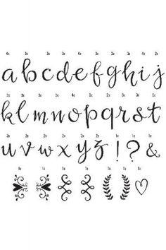 A little lovely company lightbox letter set: script chalkboard lettering alphabet, fun fonts alphabet
