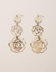 Triple Rose Earring