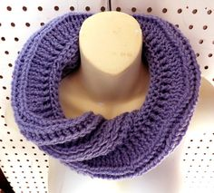 Periwinkle Spring Crochet Infinity Cowl Scarf FOLDED Periwinkle Blue Scarf Infinity Scarf Crochet Scarf Womens Scarf Spring Scarf by strawberrycouture by #strawberrycouture on #Etsy