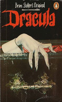 Dracula. Always an annual October read. Love the vintage cover and artwork on this edition!