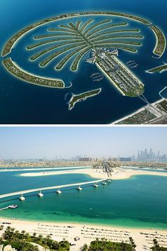 The Palm Islands in Dubai! Click through to read the top 10 things to do in Dubai! Dubai Vacation, Dubai Travel, Cool Places To Visit, Places To Travel, Places To Go, Palm Island Dubai, Dubai Islands, Dubai Destinations, Dubai City