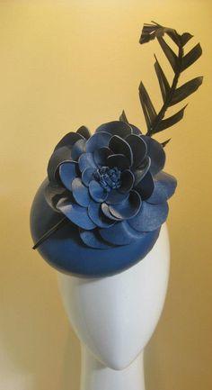 Jill & Jack Millinery 'Bolt of Blue' leather Headpiece, $335