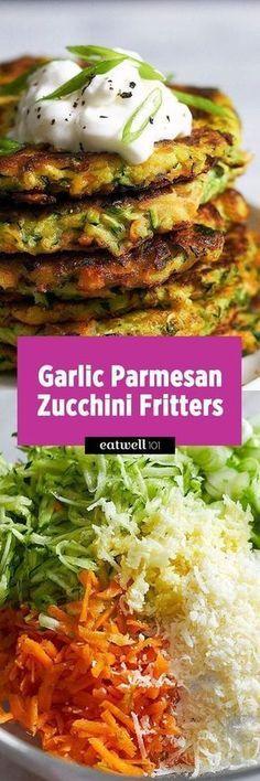 crispy garlic parmesan zucchini fritters