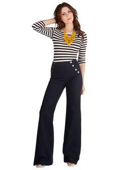 Love this outfit!  Sailorette the Seas Jeans in Dark Wash | Mod Retro Vintage Pants | ModCloth.com