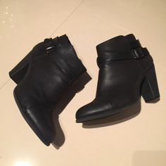 LC Lauren Conrad black booties LC Lauren Conrad black women's booties. Size 10. Pre-loved. See scuff mark in third photo. LC Lauren Conrad Shoes Ankle Boots & Booties