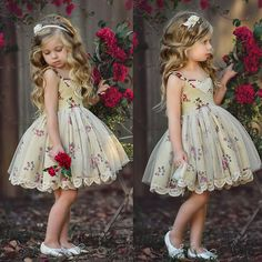 Details about Toddler Kid Baby Girl Birthday Princess Bridesmaid Party Formal Lace Dress Girls Formal Dresses, Dresses Kids Girl, Little Girl Outfits, Little Girl Fashion, Dress Formal, Little Girl Gowns, Flower Girls, Flower Girl Dresses, Baby Flower