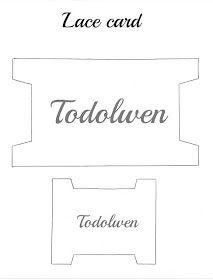Todolwen: A New Tutorial ~ Lace Cards Sewing Hacks, Sewing Crafts, Sewing Projects, Shabby Chic Crafts, Vintage Crafts, Card Patterns, Embroidery Patterns, Macrame Bracelet Patterns, Doll House Crafts
