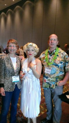 Erin and Jonathan meeting a Hollywood legend at ISA