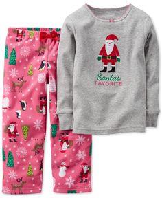 Carter's Baby Girls' 2-Piece Santa Top & Pajama Pants