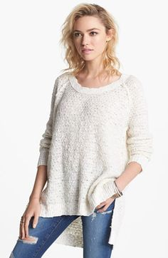 Free People 'Po Jeepster' High/Low Sweater