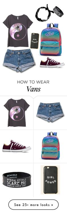 """My First Polyvore Outfit"" by lilia-marcote on Polyvore featuring Converse, Vans, women's clothing, women, female, woman, misses and juniors"