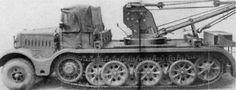 A Borgward SdKfz 7/2 heavy maintenance halftrack