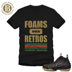 FOAMPOSITE GUCCI - BLACK - FOAMS OVER RETROS - SS / BLK (MEN)