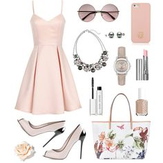 A fashion look from April 2015 featuring nude dress, alexander mcqueen shoes and white handbag. Browse and shop related looks. Shoe Bag, Polyvore, Pink, Stuff To Buy, Shopping, Collection, Design, Women, Fashion