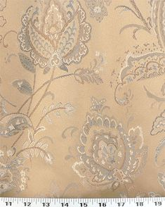 Medium Weight Drapery / Medium Weight Upholstery This large-scale floral woven fabric is a beautiful jacquard in a gold/brown with a touch of gray-blue. Its heavy body and thickness make it.